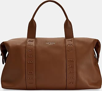Ted Baker Debossed Weekend Bag in Tan HUNGAR, Mens Accessories
