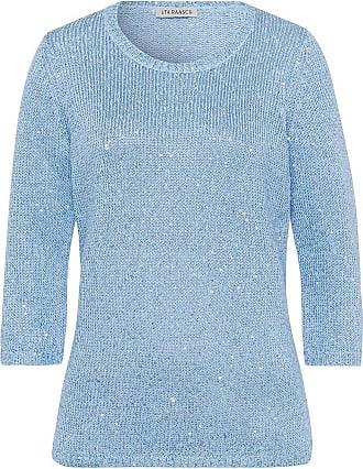 Uta Raasch Rundhals-Pullover 3/4-Arm Uta Raasch blau