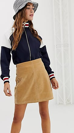 Pimkie mini skirt with side buttons in brown