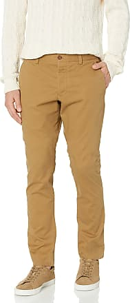 French Connection Mens Machine Gun Stretch Trousers, Old Camel, W32 INxL32 in