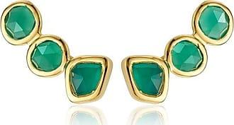Monica Vinader Siren Climber Green Onyx earrings