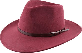 6b9bc78e6bf Classic Italy Fedora Hat Wool Felt Packable Wide Brim Men Classique Large - Size  58 cm