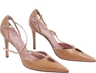 79701d90240 Valentino Garavani Vintage Tan Leather Salome Pumps Heels Shoes. In high  demand