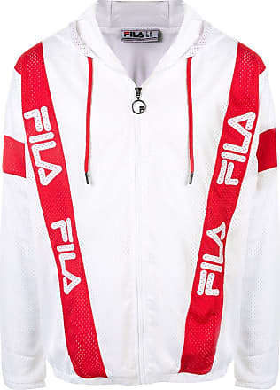 Fila contrast logo stripe mesh jacket - Weiß