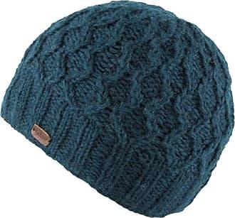 KuSan 100% Wool Wave Cable Brooklyn Beanie Hat PK1927 (Teal)