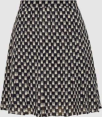 Reiss Vivi - Printed Mini Skirt in Black/white, Womens, Size 12