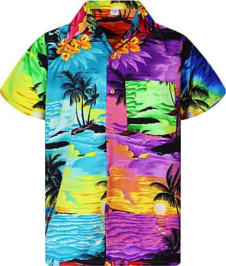 V.H.O. Funky Hawaiian Shirt, Shortsleeve, Mondy Surf, Multicoloured, XXL