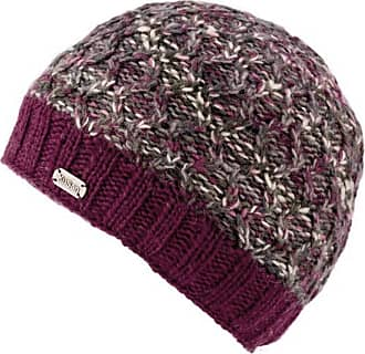 KuSan 100% Wool Double Cable Twisted Beanie Hat PK1828 (Berry)