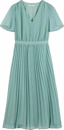La Redoute Langes Plissee-Kleid mit kurzen Ärmeln - BLAU - LA REDOUTE COLLECTIONS PLUS