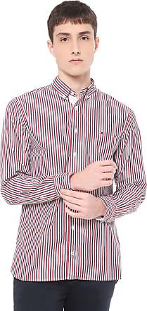 9ad02ad6e Tommy Hilfiger Camisa Tommy Hilfiger Regular Fit Listrada Vermelha/Cinza