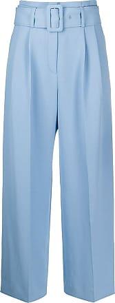 Sandro Calça pantalona com cinto - Azul