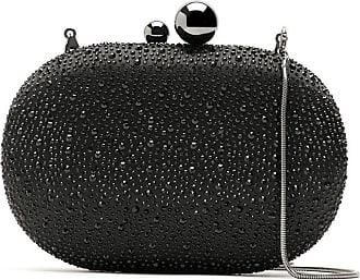 Isla Bolsa clutch com strass - Preto