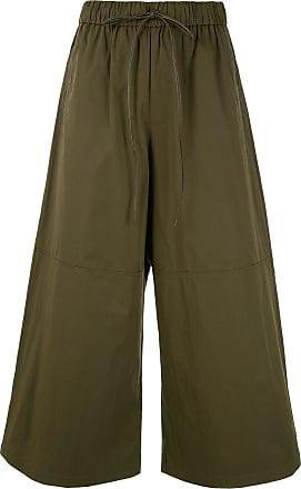 Yves Salomon wide-leg cropped trousers - Green