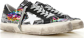Golden Goose Sneakers for Women, Silver, paillettes, 2017, 5 6