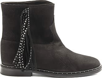 Via Roma 15 Black ankle boots with Fringes and Studs - 3187 Desire - Size Black Size: 7 UK