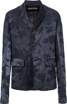 Uma Wang jacquard fitted blazer - Blue