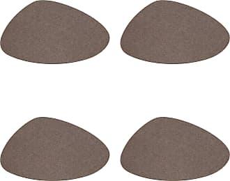 Hey-Sign Stone Tischset 4er Set 34x29cm - pepper/Filz in 5mm Stärke/LxBxH 34x29x0.5cm