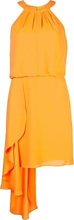 Halston Heritage frilled mini dress - Laranja