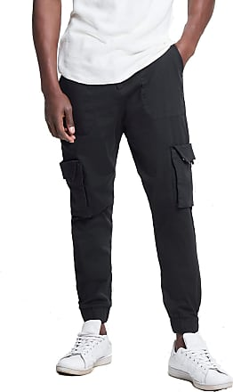 Only & Sons Mens Cargo Pants Cuffed Jeans in Black