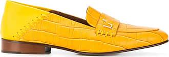 L'autre Chose Mocassim com efeito pele de crocodilo - Amarelo