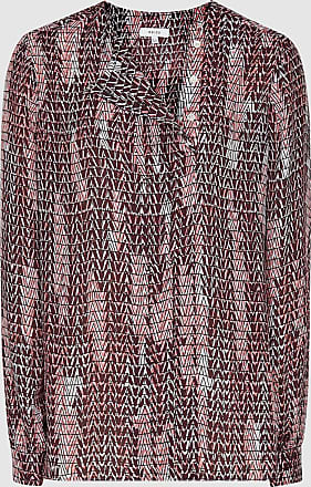 Reiss Peyton - Printed Blouse in Berry, Womens, Size 14