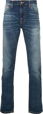 Nudie Jeans Calça jeans slim com efeito desbotado - Azul