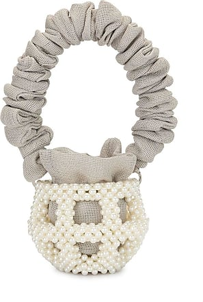 0711 small Mei bucket bag - White