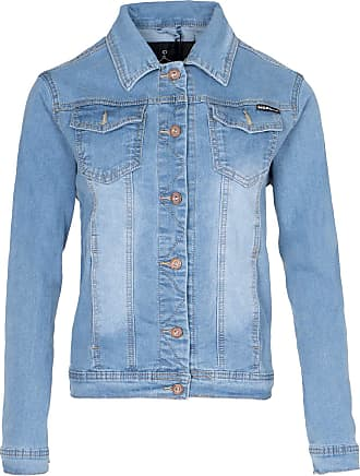 Noroze Womens Washed Detail Denim Jacket (Light Blue, 22)