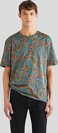 Etro Floral Paisley Print Cotton T-shirt, Man, Multicolor, Size XL