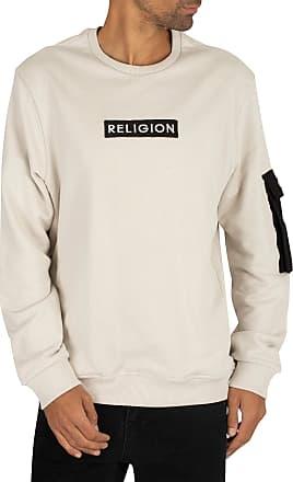 Religion Mens Cadet Sweatshirt, Beige, XL