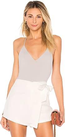 Superdown Chrissy Knit Bodysuit in Light Gray