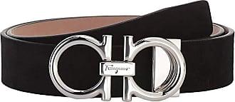 Salvatore Ferragamo Adjustable Belt - 679955 (Black) Mens Belts