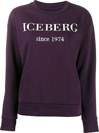 Iceberg logo embroidered sweatshirt - Purple