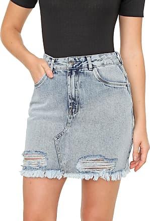 Dimy Saia Jeans dimy Curta Vintage Olivia Azul