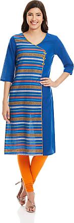 Aurelia Womens Straight Kurta (16AUK12821-78411_Blue_X-Small)