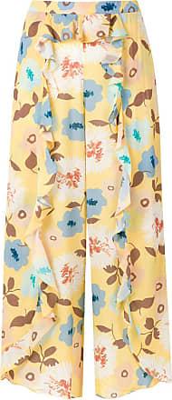 Clube Bossa Calça pantalona Bealeva floral - Amarelo