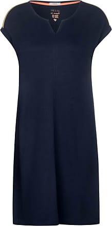 Cecil Komfort-Kleid mit Neondetail - deep blue