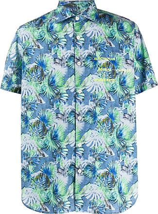 Department 5 Camisa com estampa de palmeira - Azul