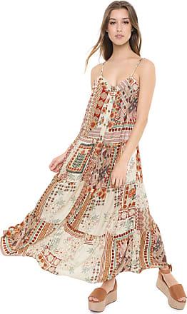 Dress To Vestido Dress to Midi Patchowork Bege