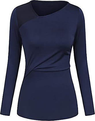 Damen Shirt Langarmshirt Schößchen Netz Bluse Tunika S 34 36 Top Party Jersey
