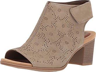 e9475b1da Rockport Womens Hattie Cuff Hi Vamp Heeled Sandal Khaki Leather 9.5 M US