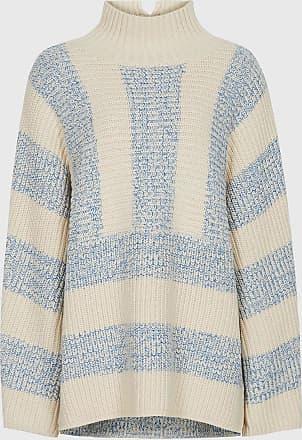 Reiss Astrid - Striped Oversized Jumper in Cream, Womens, Size XL