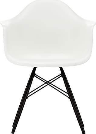 Vitra DAW Plastic Armchair Black Maple Base