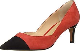 Franco Sarto Womens Delight Pump, Black/red, 12 M US