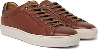 HUGO BOSS Mirage Full-grain Leather Sneakers - Brown