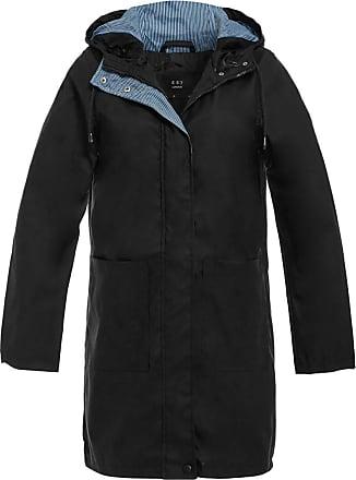 SS7 New Womens Rain Mac Check Trim Waterproof Raincoat Ladies Jacket Size 8 10 12 14 16