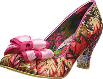 Irregular Choice Womens Ban Joe Closed Toe Heels, Pink (Pink/Floral Multi Al), 7.5 (41 EU)