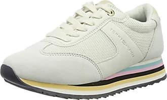0d8c38b652e Tommy Hilfiger Tommy Stripe Retro Sneaker, Zapatillas para Mujer, Blanco  (Off White 156