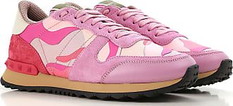 Valentino Sneakers for Women On Sale, Hot Pink, Suede leather, 2017, 10 6