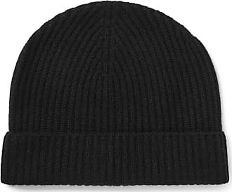 Lock & Co Hatters Ribbed Cashmere Beanie - Black